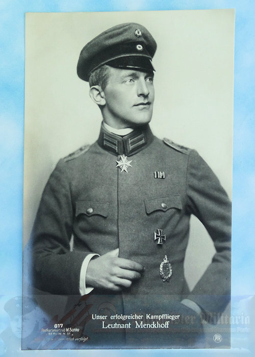 GERMANY - SANKE CARD - LEUTNANT CARL MENKHOFF - NR 617