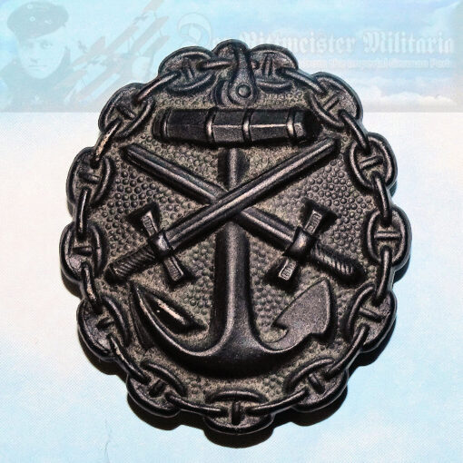 GERMANY - WOUND BADGE - NAVY - BLACK