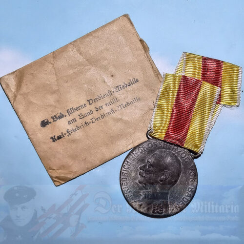 BADEN -  FRIEDRICH II MILITARY MEDAL MEDAL - ORIGINAL PRESENTATION PACKET