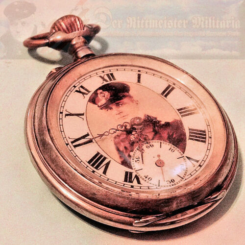 GERMANY - POCKET WATCH  - FEATURING GERMANY'S LEADING U-BOOT COMMANDER  - LOTHAR VON ARNAULD de le PERIÈRE