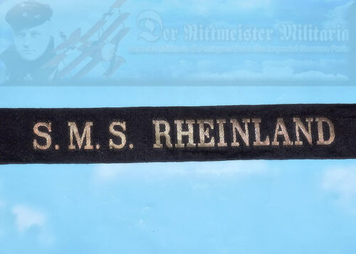 GERMANY - CAP TALLY - ENLISTED SAILOR - S.M.S. RHEINLAND