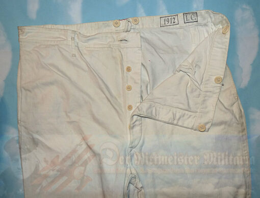 GERMANY - TROUSERS - ENLISTED MAN/NCO - DEPOT ISSUED - WHITE