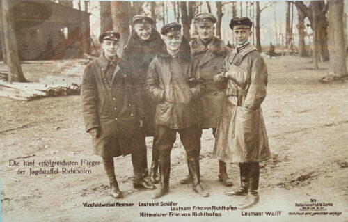 GERMANY - SANKE CARD  - RITTMEISTER MANFRED FREIHERR von RICHTHOFEN AND FOUR FELLOW PILOTS FROM JASTA 11  - NR 511