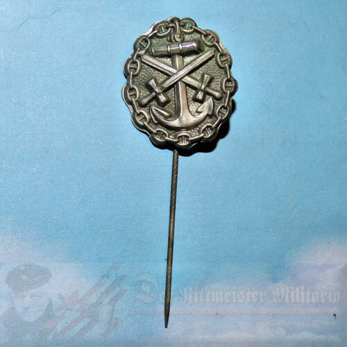 GERMANY - STICKPIN - WOUND BADGE - NAVY - SILVER