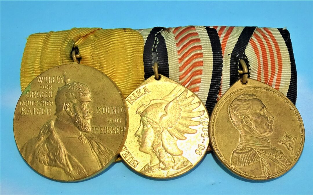 GERMANY – COLONIAL – MEDAL BAR – THREE PLACE