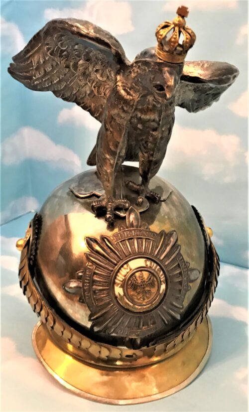 PRUSSIA - PICKELHAUBE - OFFICER - HOHENZOLLERN PARADE EAGLE - LEIB-GENDARMERIE
